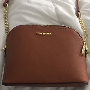 Warm toffee colored Steve Madden crossbody